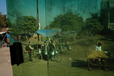 View from the bus on the way to Khajuraho