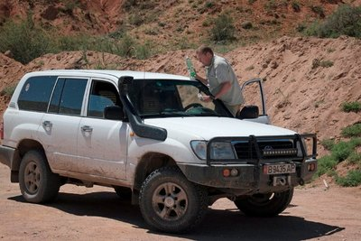 Alexey Drosdov, our driver/guide and his Toyota Land Cruiser