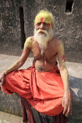 Sadhu, (person who relinquishes worldly pleasures), Orchha, Madyha Pradesh