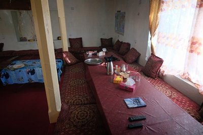 Hotel Marco Polo, dining room, Eshkashim, Afghanistan