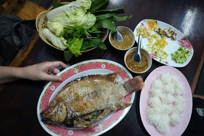 Dinner on the night market, Ayutthaya, Thailand