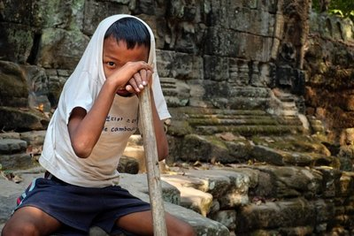 Boy at Banteay Kdei Temple