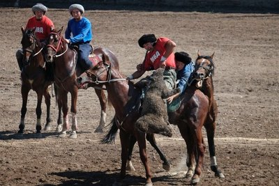 Ulak Tartysh - traditional Kyrgyz goat polo, Bishkek