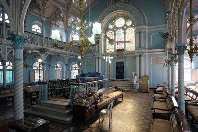 Interior Knesset Eliyahoo Synagogue, Bombay