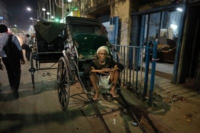 Rickshaw driver, Calcutta