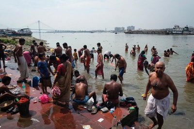 One of the ghats along the Hooghly River, Calcutta