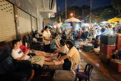Massage at the Sunday Market, Chiang Mai, Thailand
