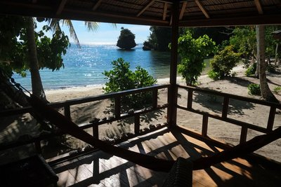View from our bungalow, Harmony Bay Resort, Togian islands
