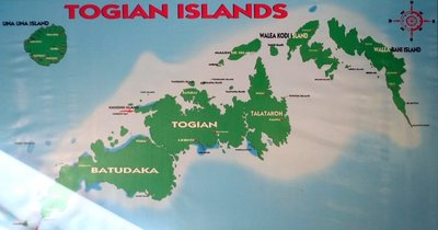 Map of the Togian islands