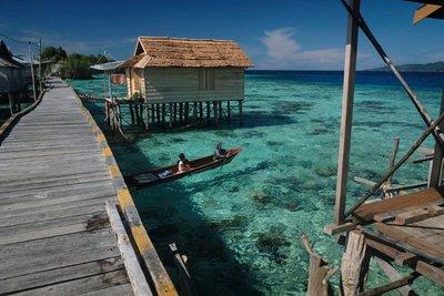 Bajo village, Malenge island, Togian