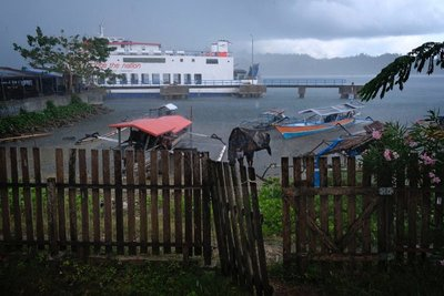 The ferry from Togian islands to Gorontalo