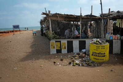Garbage near Konark