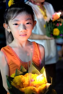 Loi Krathong festival, Bangkok, Thailand