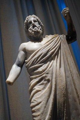 Marble statue of Zeus, Benaki Museum, Athens