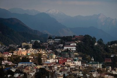 View from hotel balcony, Mussoorie