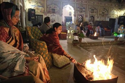 New Years Eve, Mandawa Haveli, Shekawati region, Rajasthan