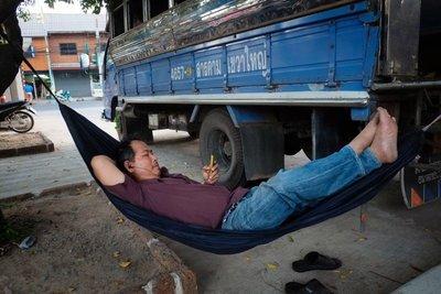 Portable rest stop, Phimai, Thailand