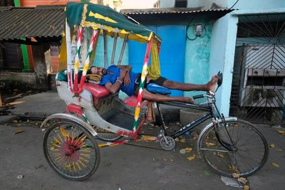Bicycle rickshaw, Puri