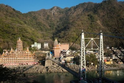 Lakshman Jhula footbridge, Rishikesh