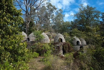 Beatles' home at Maharishi Mahesh Yogi's Ashram, Rishikesh