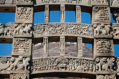 Detail Sanchi Stupa