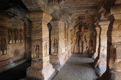 Interior cave, Badami
