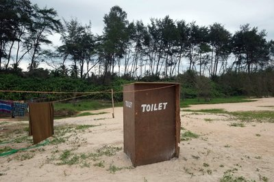 Restroom, Arossim Beach, Goa