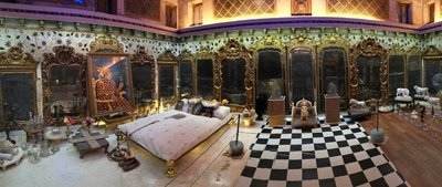 King's bedroom, Aina Mahal (palace), Bhuj