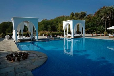 Pool at Shahpura Bagh Hotel, Rajasthan
