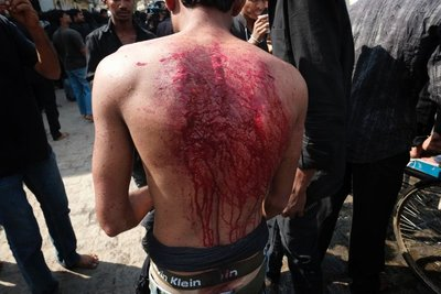 Self-flagellation during Muharram, Hyderabad