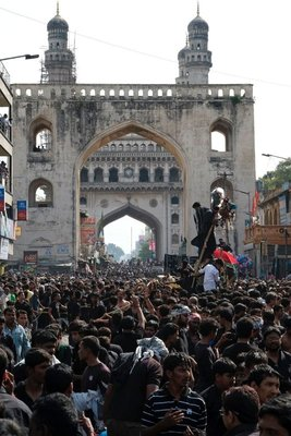 Muharram procession at Charminar mosque, Hyderabad