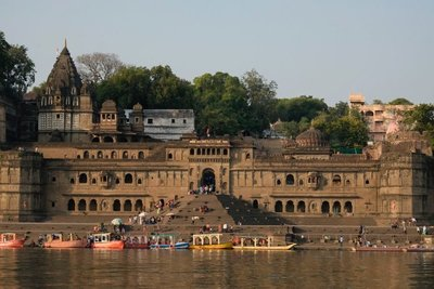 View of Maheshwar from the river