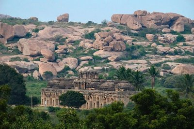 View of Elephant stables, Hampi