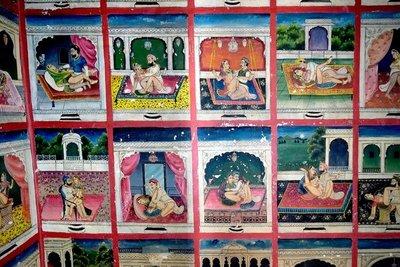 Hidden Kama Sutra panel, Juna Mahal, Dungarpur, Rajasthan