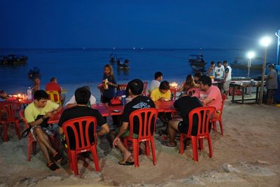 Dinner on the beach, Perhentian Besar