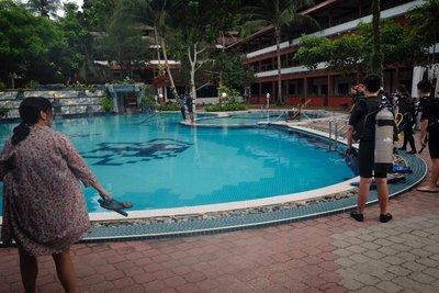 Pool at Arwana Resort, Perhentian Besar