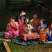 Family worshipping the 4 Buddhas, Phaung Daw Oo Pagoda festival