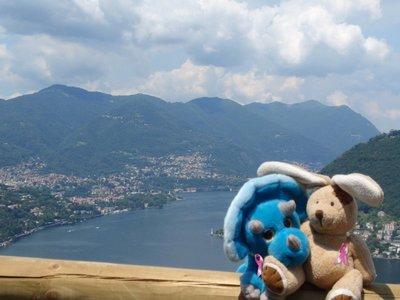 Relaxing after a tough walk in Como