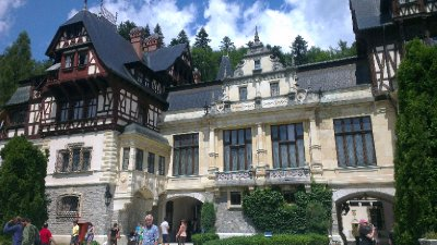 Peles Castle Side Shot
