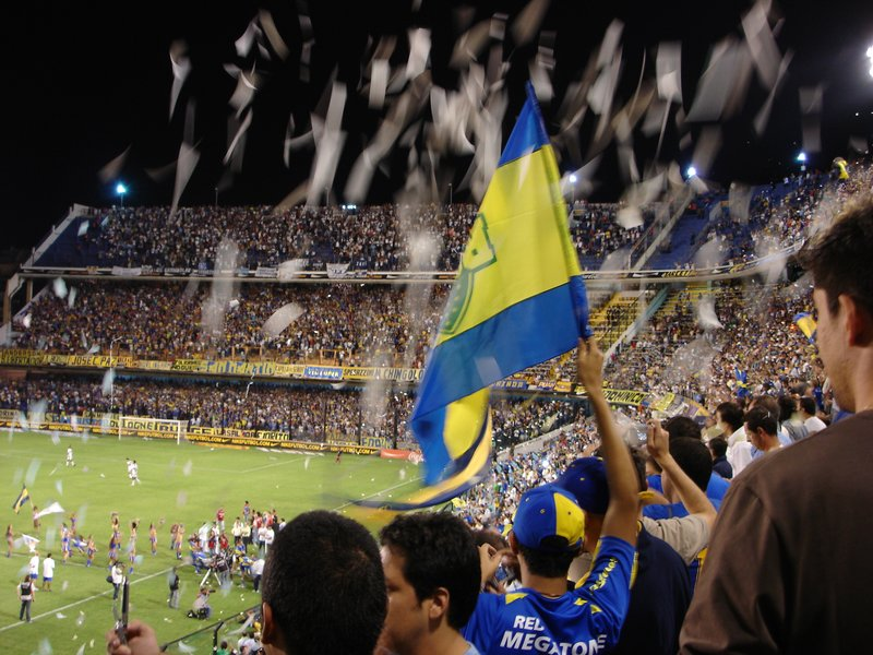 At Boca Juniors' stadium