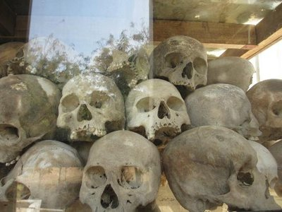 It was hard to look at all these skulls and skeletons and know that they were all innocent people, killed for no reason.