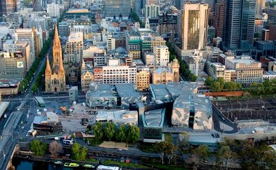 Federation Square Bird's Eye View