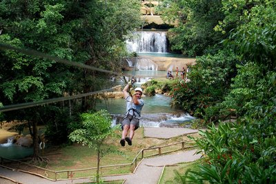 Zip Lining at Rainforest Bobsled Jamaica