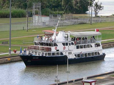 The Panama Canal Tour Boat