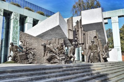 Warsaw uprising monument 1.
