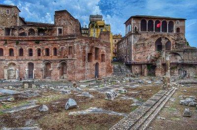 Roman forum. HDR.