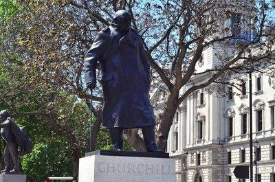 Winston Churchill statue.