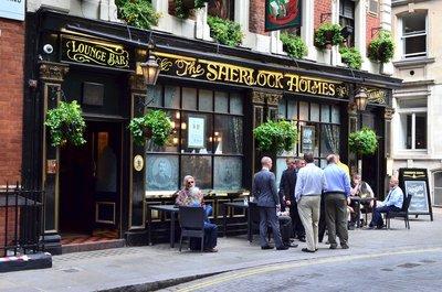 The Sherlock Holmes pub.