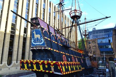 The Golden Hinde ship museum.