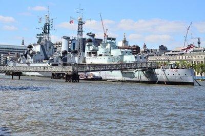 HMS Belfast battleship museum.